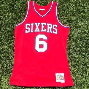 Philadelphia Sixers Dr. J jersey
